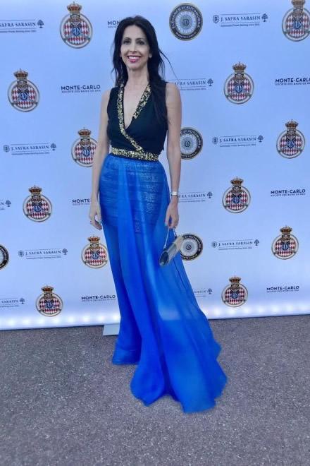 Lorena Baricalla al Elegance et Automobile Monte-Carlo