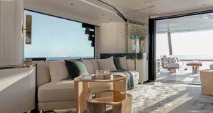 Yacht Magellano 25 Metri con gli interni di Vincenzo De Cotiis